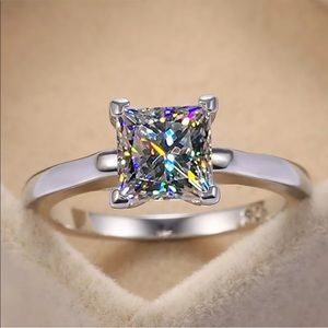 Silicate engagement solitaire wedding ring